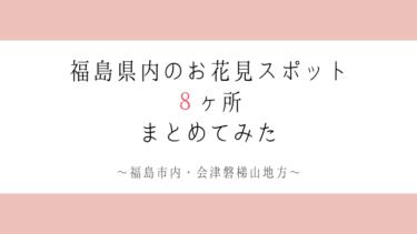 【福島市・会津磐梯山地方】実際に行った福島県内のお花見スポット8ヶ所全て紹介します!【2019】